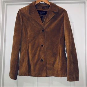 Andrew Marc Camel Suede Leather Jacket Size M NWOT